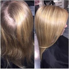 Varm naturell blond/ perfekt för de som inte vill få den skarpa utväxten men ändå se ljusare ut! #more#color#for#people#hair#haircolor#hairstyle#salongmeduza